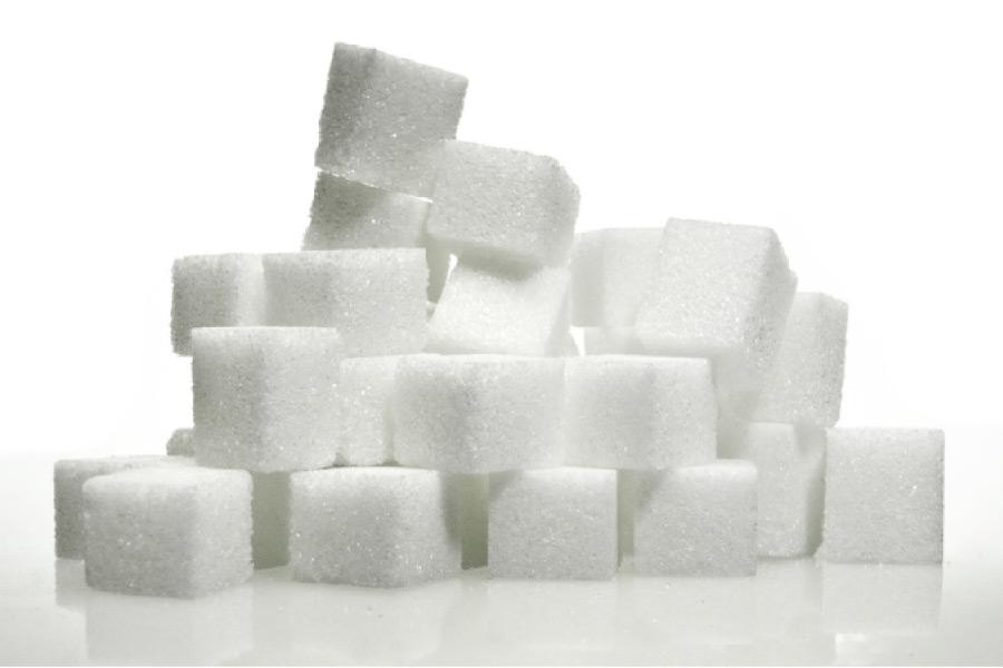 stack of sugar cubes